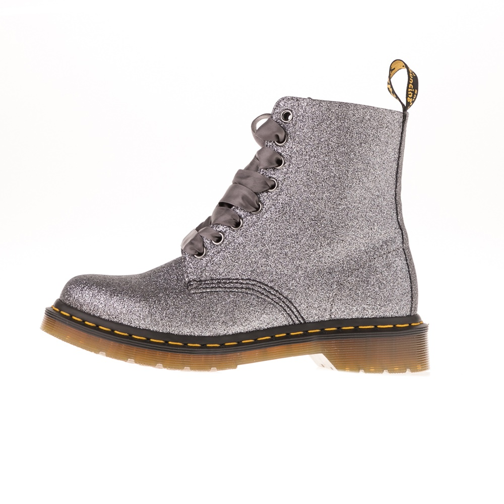 DR.MARTENS – Γυναικεία μποτάκια DR.MARTENS Pascal Glitter 8 Eye Boot γκρι