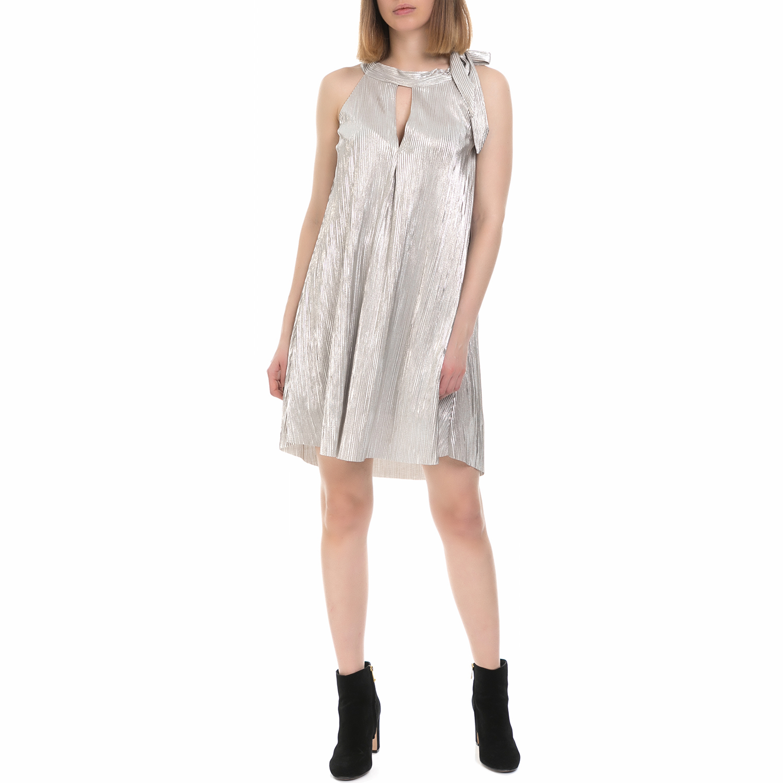 MY TIFFANY - Γυναικείο φόρεμα MY TIFFANY ασημί απόχρωση γυναικεία ρούχα φορέματα μίνι