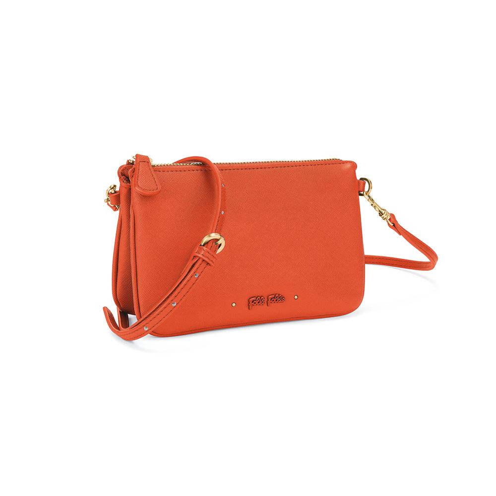 FOLLI FOLLIE - Γυναικεία τσάντα χιαστί FOLLI FOLLIE UPTOWN BEAUTY πορτοκαλί γυναικεία αξεσουάρ τσάντες σακίδια χιαστή   cross body