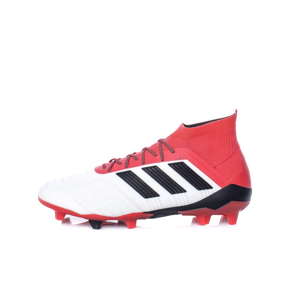 adidas Performance – Ανδρικά παπούτσια adidas PREDATOR 18.1 FG λευκά-κόκκινα