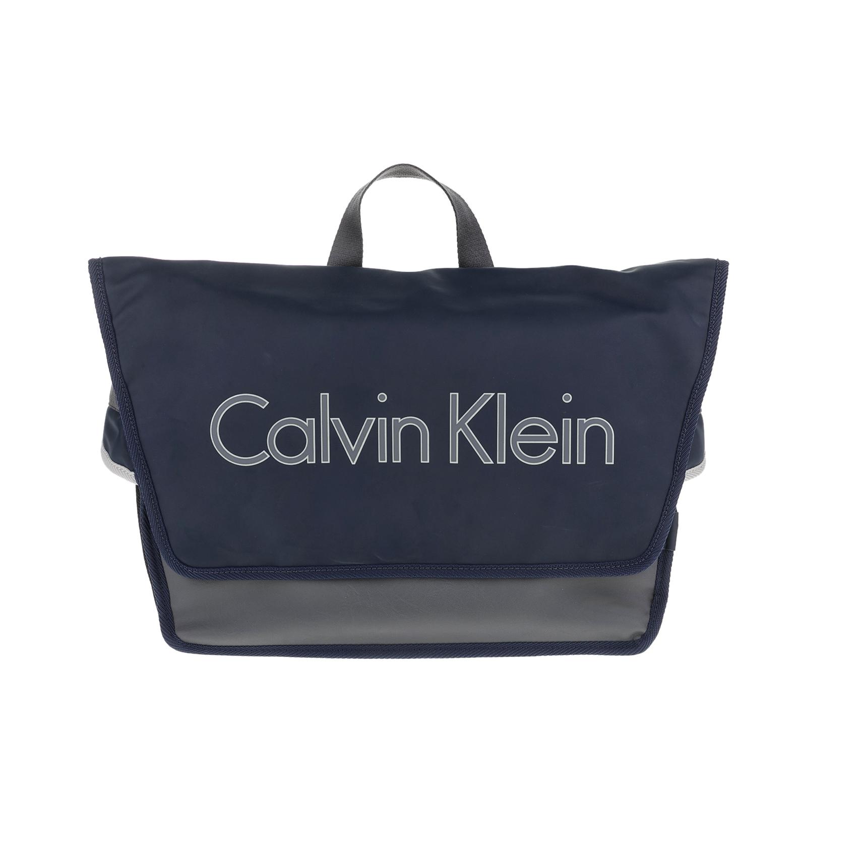 CALVIN KLEIN JEANS - Ανδρική τσάντα ταχυδρόμου CALVIN KLEIN JEANS μπλε-μαύρη ανδρικά αξεσουάρ τσάντες σακίδια ταχυδρόμου