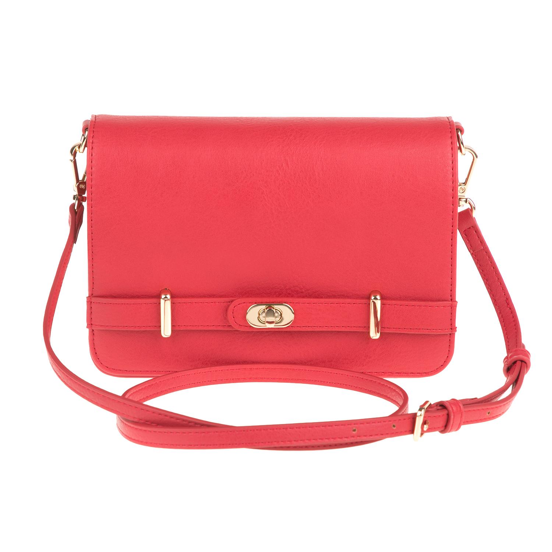 0d7b9e0f86 FOLLI FOLLIE - Γυναικεία τσάντα χιαστί FOLLI FOLLIE κόκκινη ...