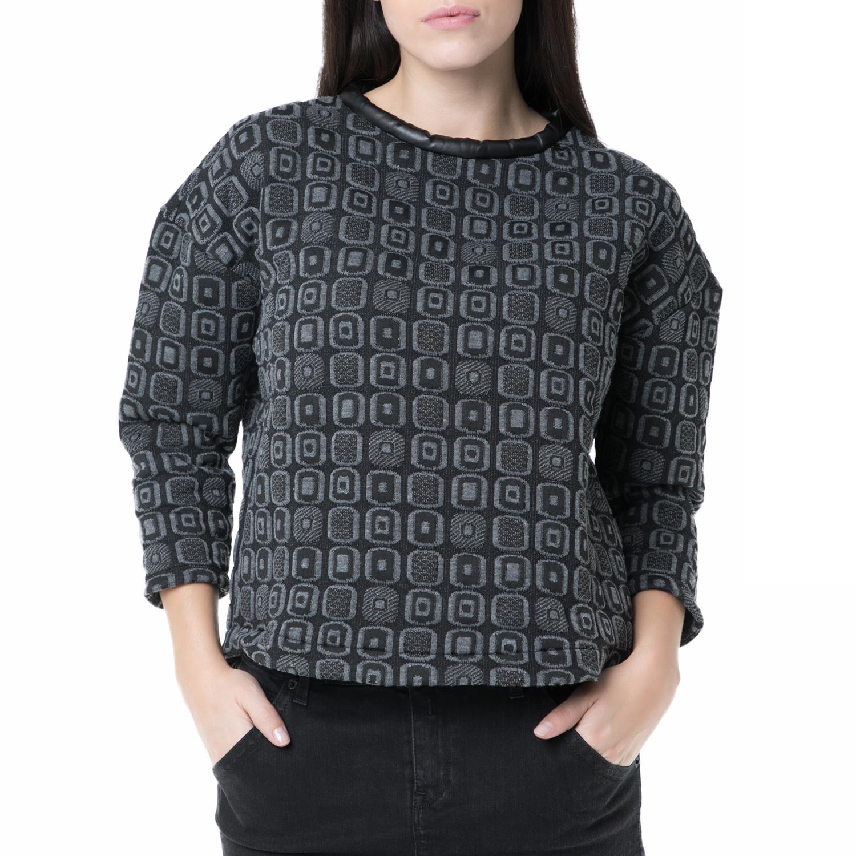 12d297910977 REPLAY – Γυναικεία μπλούζα Replay γκρι με μοτίβο