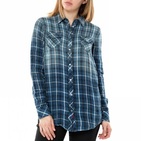 Γυναικείο μακρυμάνικο καρό πουκάμισο REPLAY μπλε (1649223.0-0033 ... 31a17ca7d35