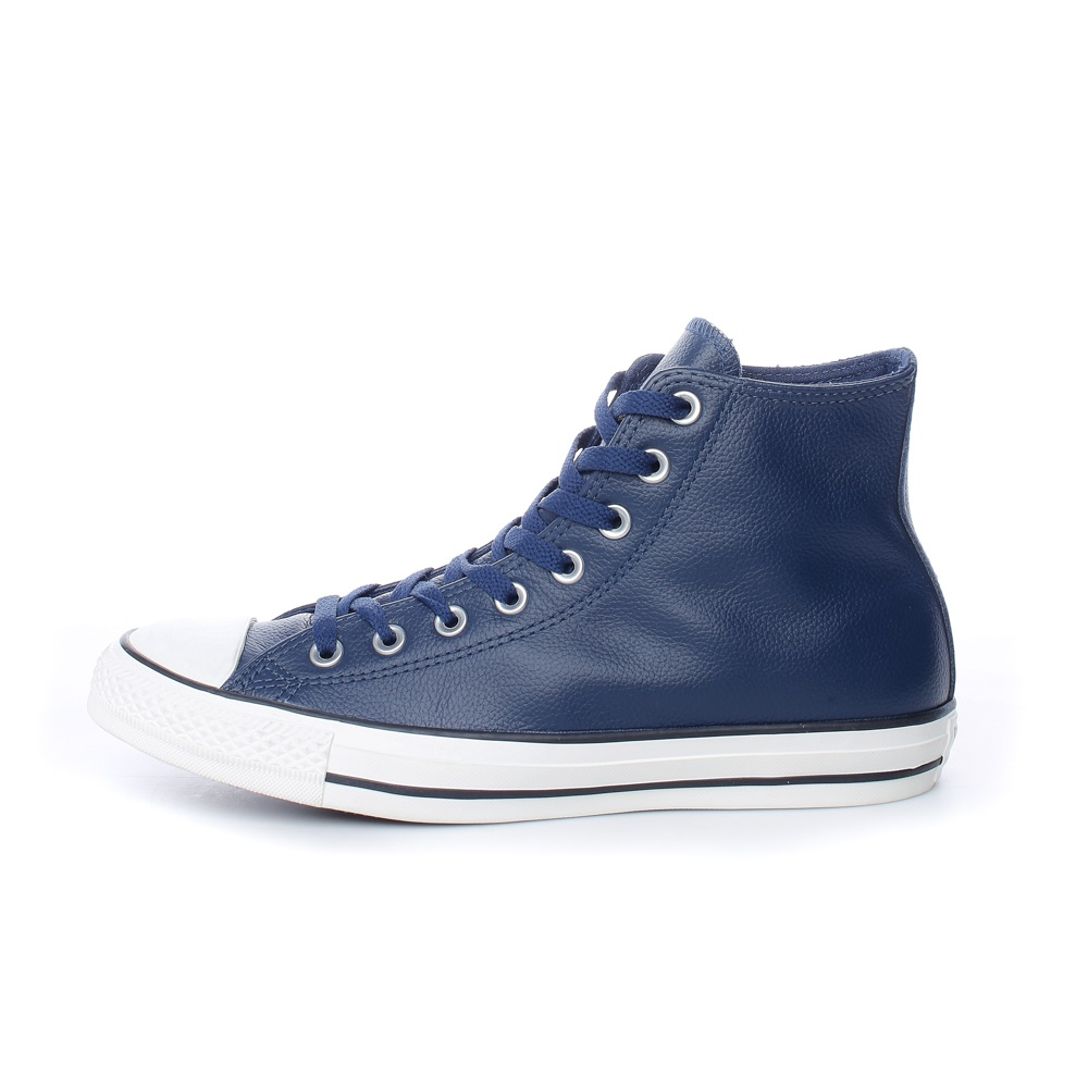 CONVERSE – Ανδρικά δερμάτινα μποτάκια Chuck Taylor Leather All Star Hi μπλε