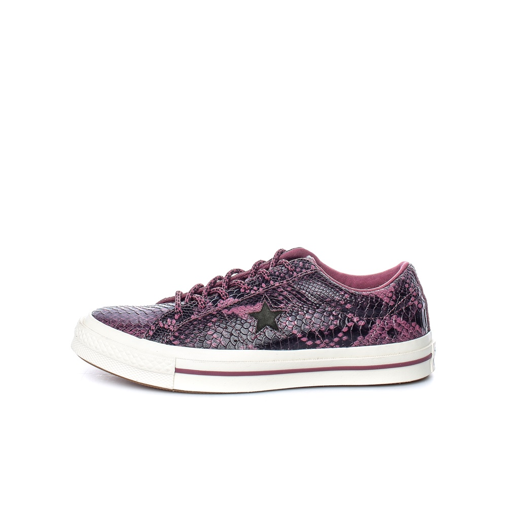 CONVERSE – Unisex sneakers CONVERSE One Star κόκκινα-μαύρα