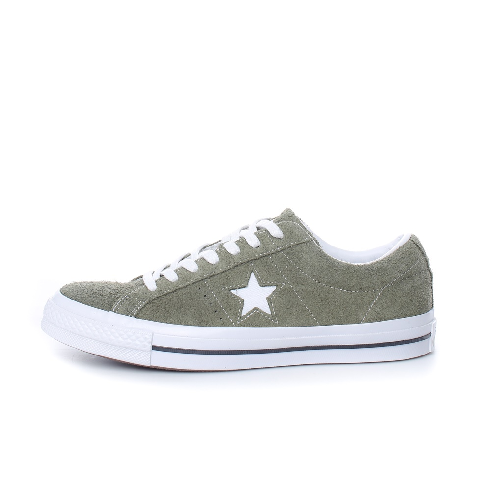 CONVERSE – Unisex σουέντ sneakers CONVERSE ONE STAR χακί