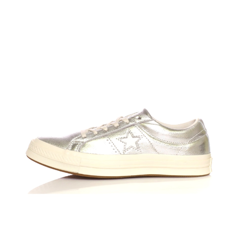 CONVERSE – Γυναικεία παπούτσια ONE STAR ασημί απόχρωση