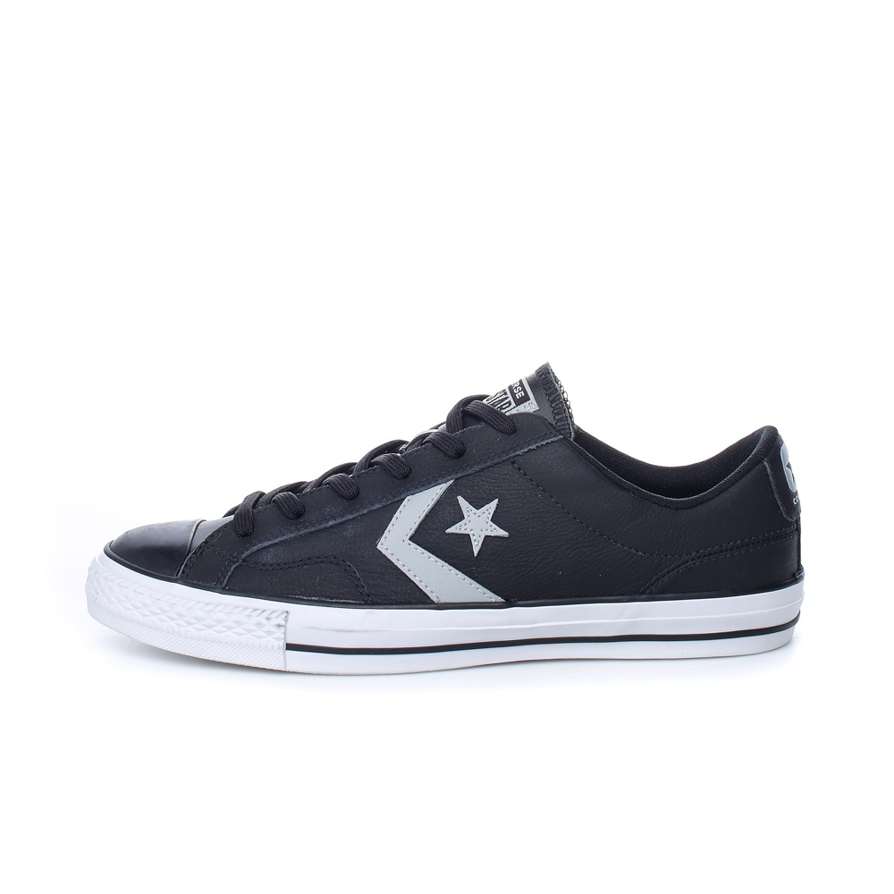 CONVERSE – Ανδρικά δερμάτινα sneakers CONVERSE STAR PLAYER μαύρα