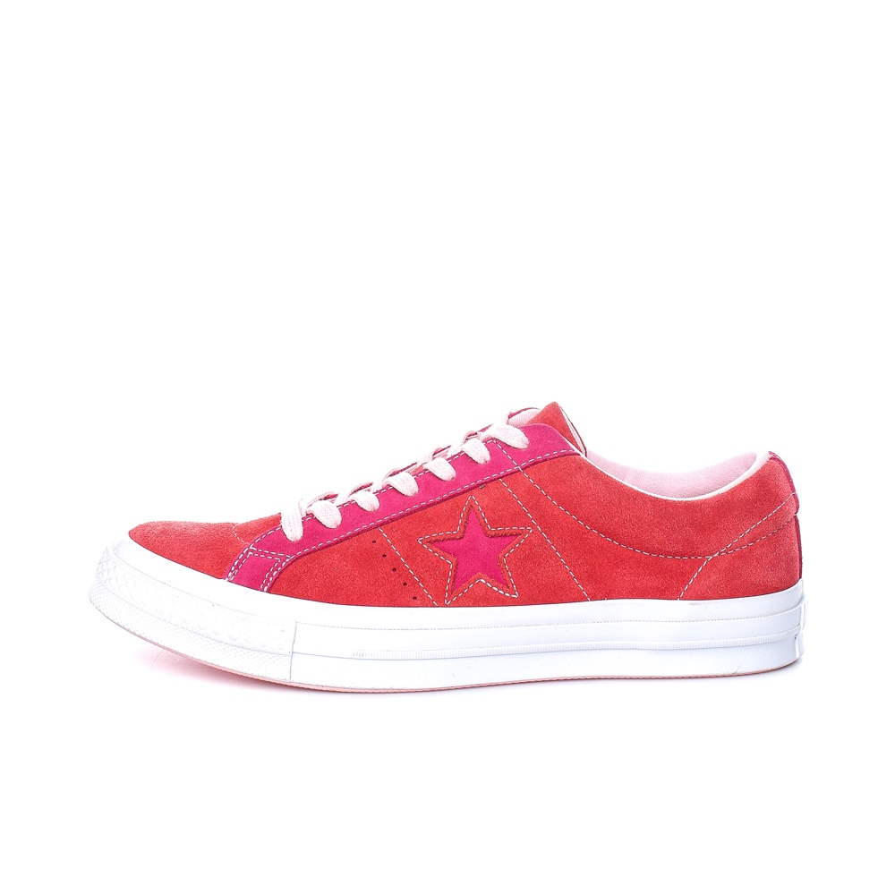 CONVERSE – Ανδρικά σουέτ sneakers CONVERSE ONE STAR κόκκινα