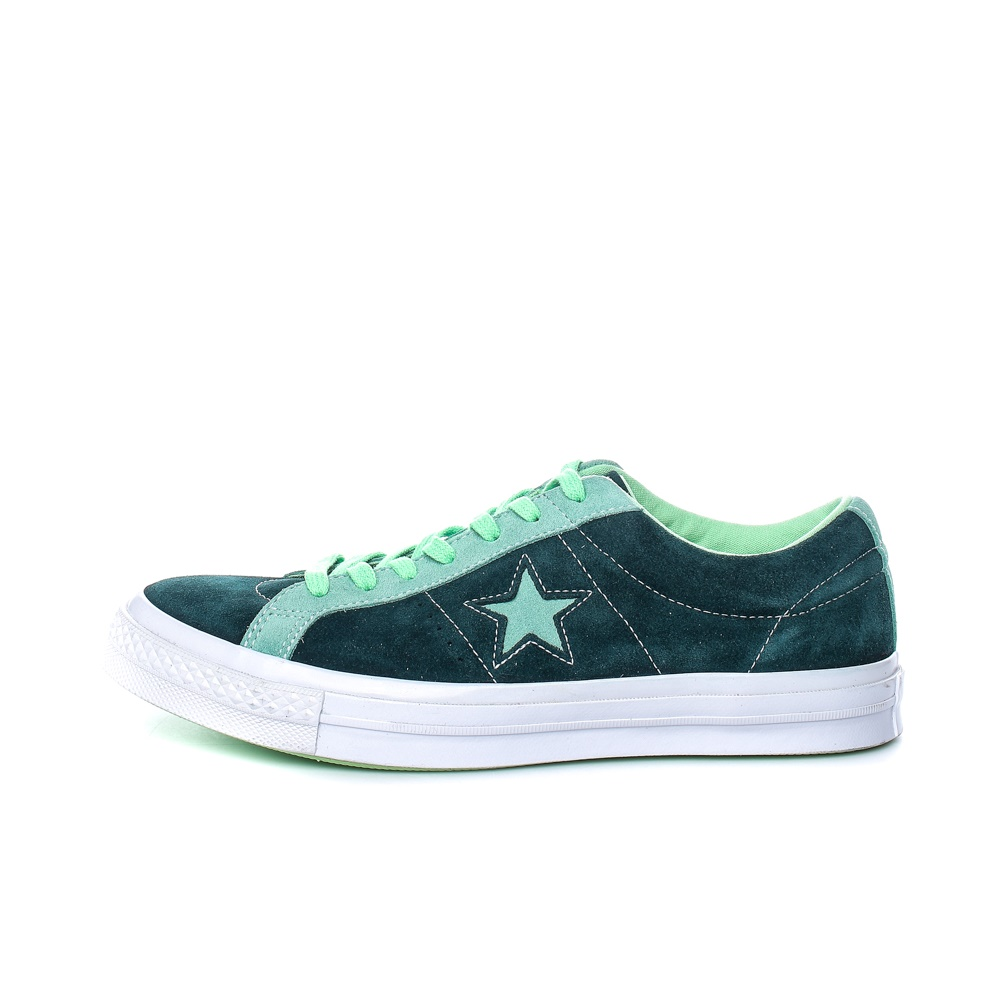 CONVERSE – Ανδρικά σουέτ sneakers CONVERSE ONE STAR πράσινα