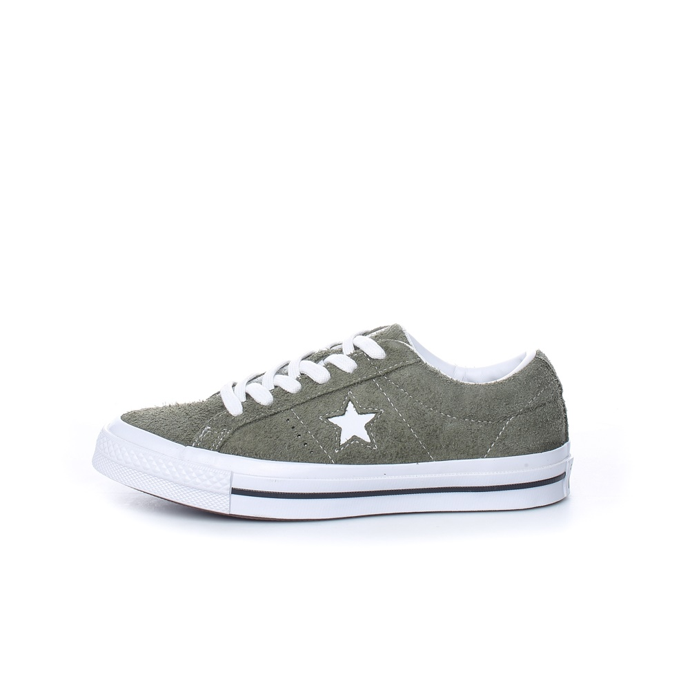 CONVERSE – Παιδικά σουέντ sneakers Converse ONE STAR χακί