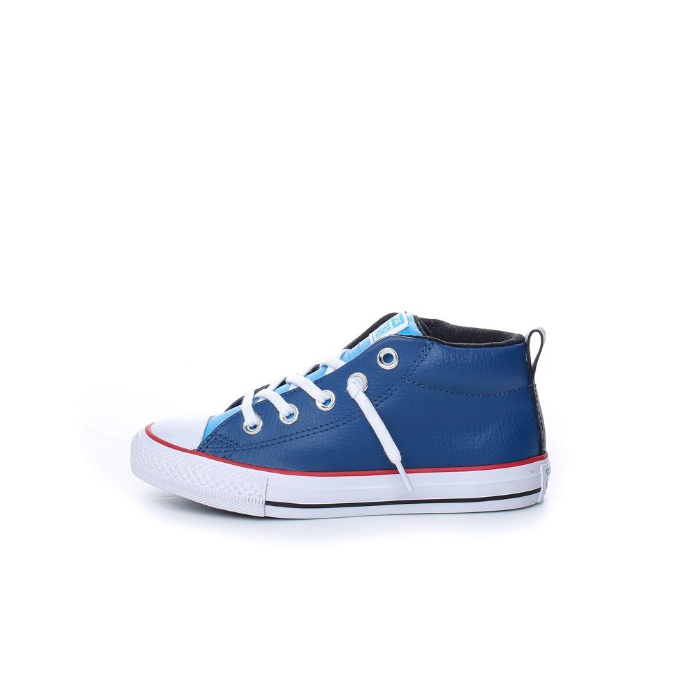 CONVERSE – Παιδικά δερμάτινα μποτάκια Chuck Taylor All Star Street μπλε