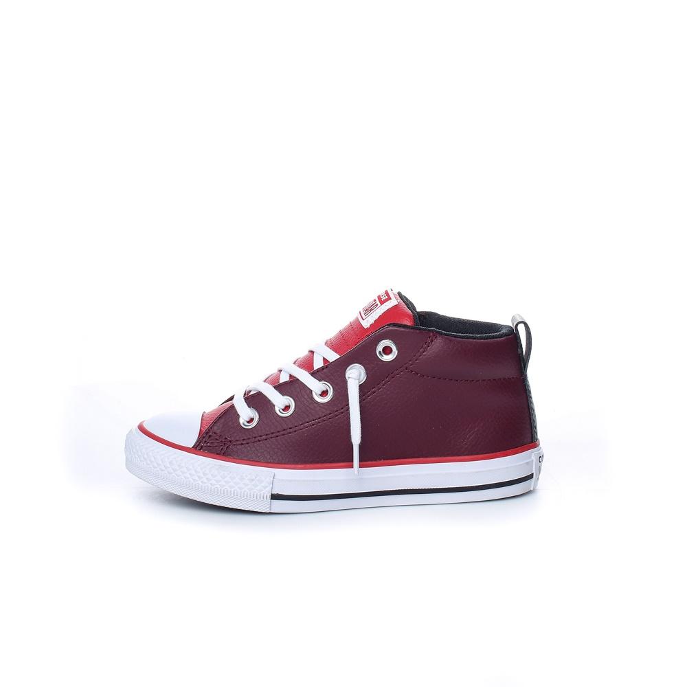 CONVERSE – Παιδικά δερμάτινα μποτάκια Chuck Taylor All Star Street κόκκινα