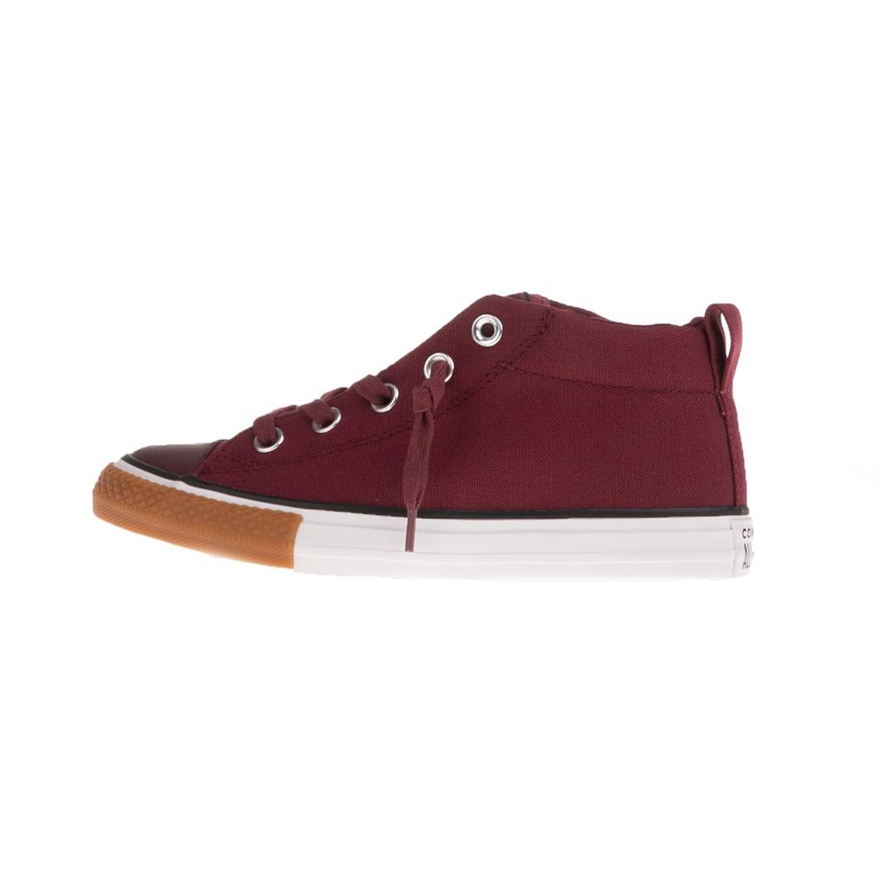 CONVERSE – Παιδικά παπούτσια CONVERSE CHUCK TAYLOR ALL STAR STREET μπορντό