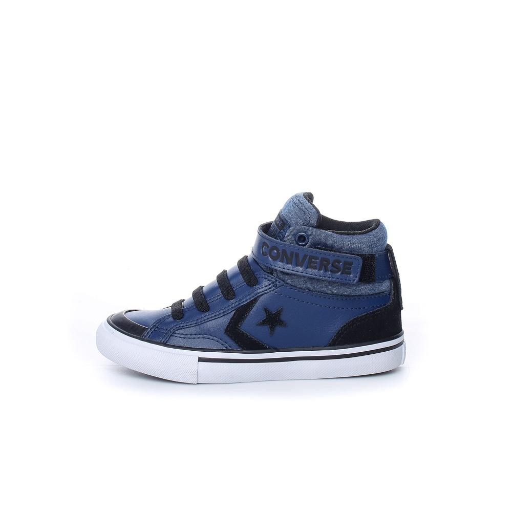 CONVERSE – Παιδικά δερμάτινα μποτάκια CONVERSE Pro Blaze Strap μπλε