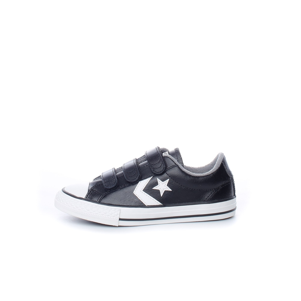 CONVERSE – Παιδικά sneakers CONVERSE STAR PLAYER 3V μαύρα