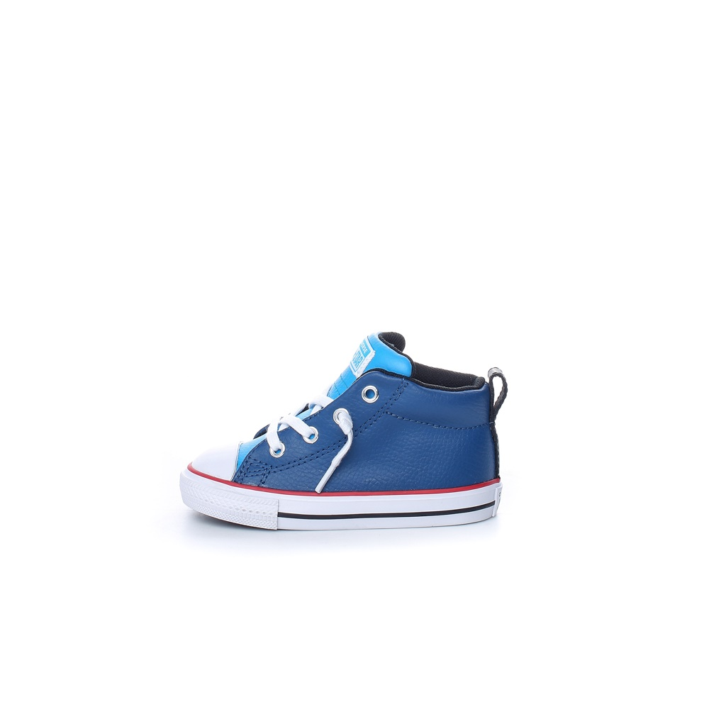 CONVERSE – Βρεφικά δερμάτινα μποτάκια Chuck Taylor All Star Street μπλε