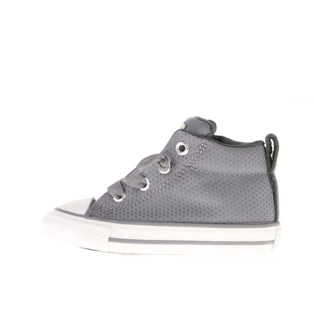CONVERSE – Βρεφικά μποτάκια CONVERSE CHUCK TAYLOR ALL STAR STREET γκρι