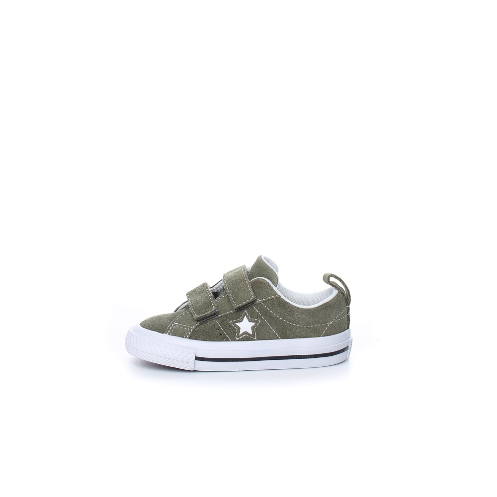 CONVERSE – Βρεφικά sneakers CONVERSE ONE STAR 2V χακί