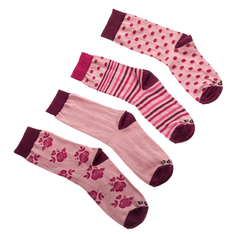 JEPA - Σετ γυναικείες κάλτσες JEPA ροζ με μοτίβα γυναικεία αξεσουάρ κάλτσες