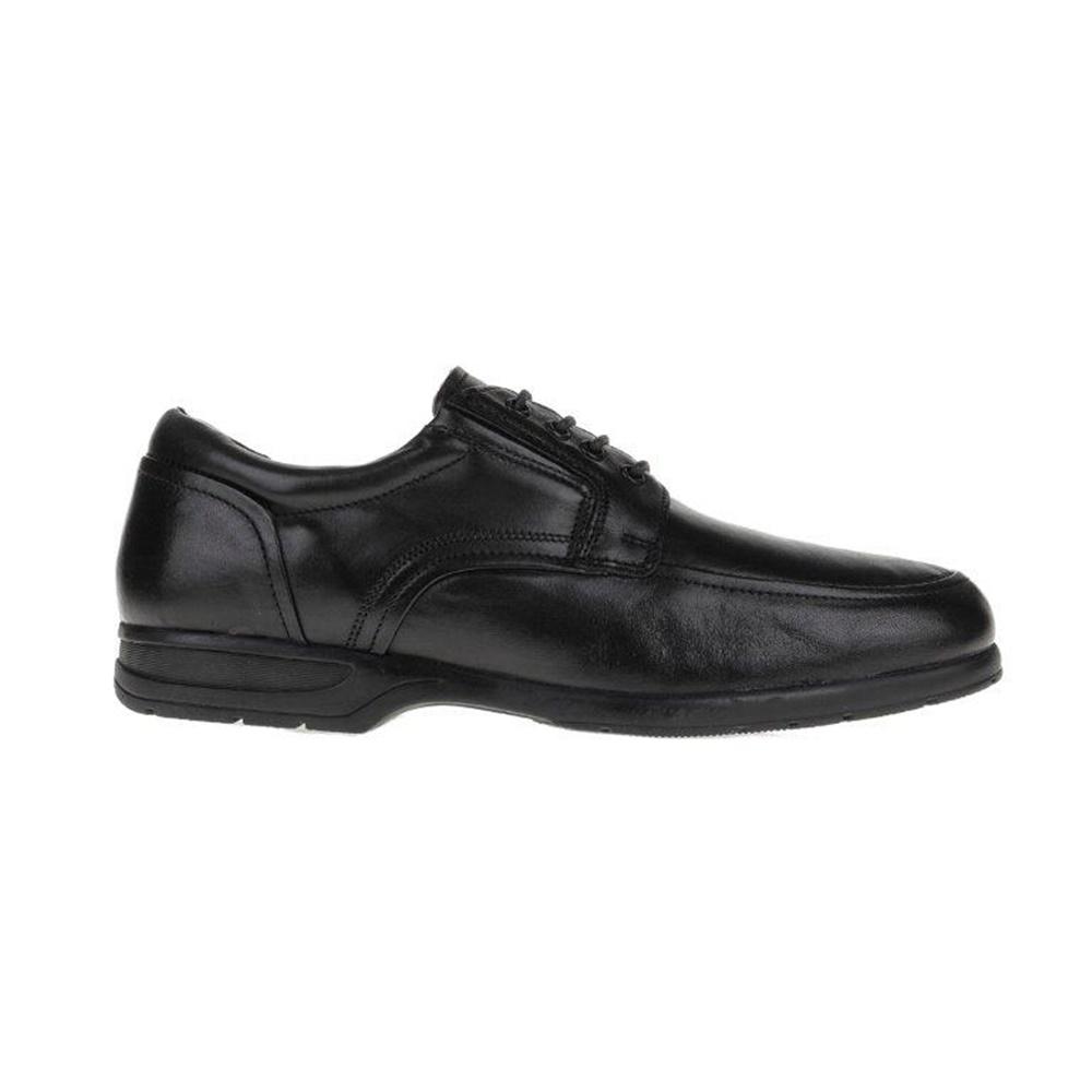 FREEMOOD-CANGURO - Ανδρικά δετά παπούτσια Freemoo - Canguro μαύρα ανδρικά παπούτσια δετά επίσημα