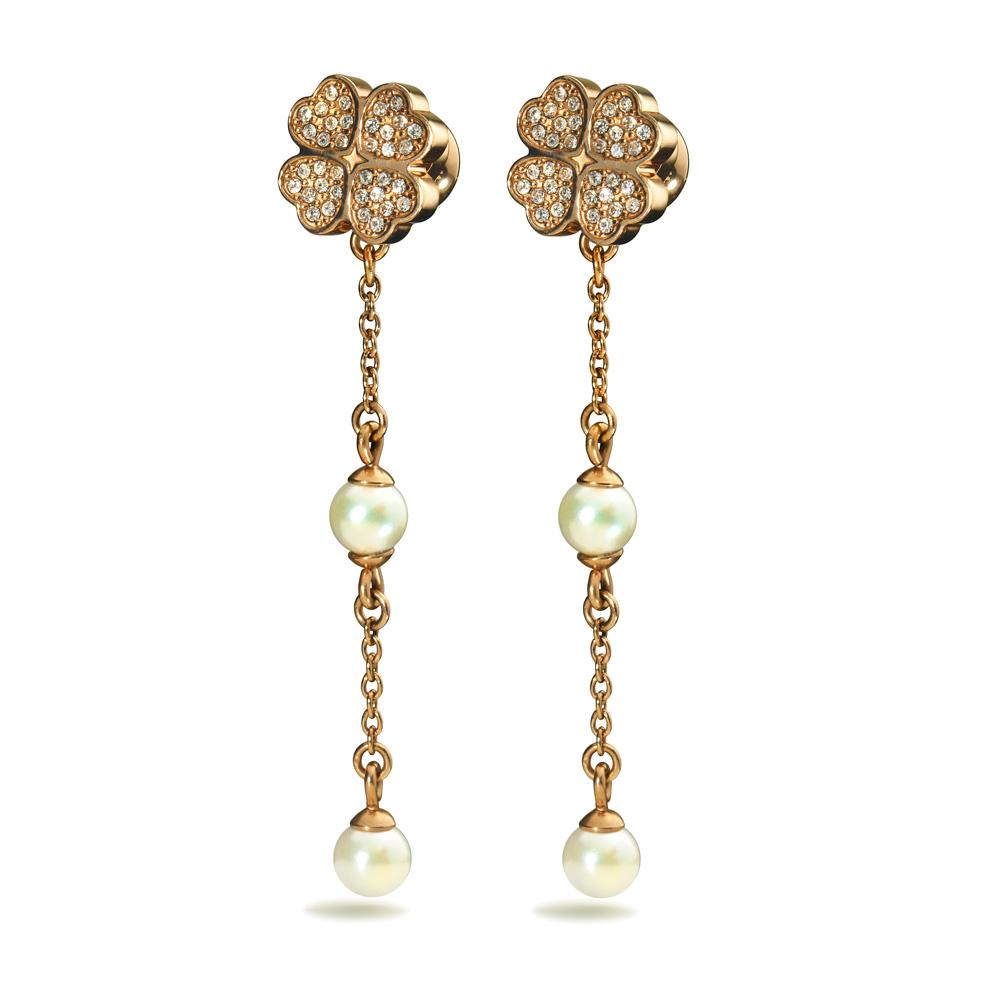 FOLLI FOLLIE - Γυναικεία σκουλαρίκια FOLLI FOLLIE ETERNAL HEART με ενωμένες καρδ γυναικεία αξεσουάρ κοσμήματα σκουλαρίκια