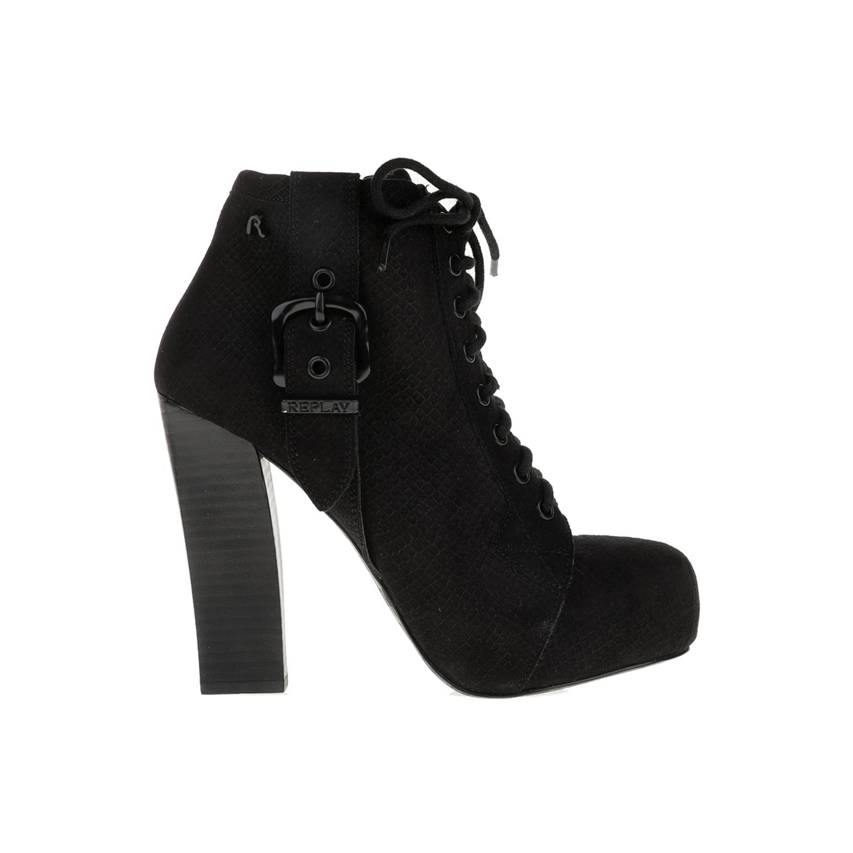REPLAY - Γυναικεία μποτάκια REPLAY μαύρα γυναικεία παπούτσια μπότες μποτάκια μποτάκια