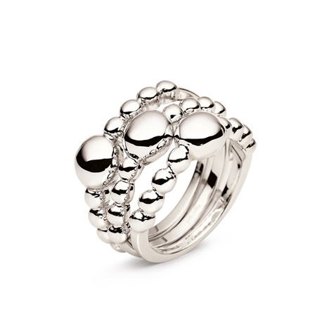 9422eb975f Σετ από τρία δαχτυλίδια FOLLI FOLLIE ασημί (1653406.0-0000 ...
