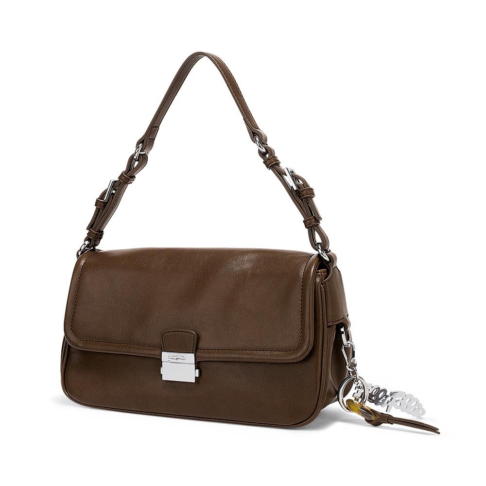 FOLLI FOLLIE - Γυναικεία τσάντα ώμου FOLLI FOLLIE καφέ γυναικεία αξεσουάρ τσάντες σακίδια ωμου