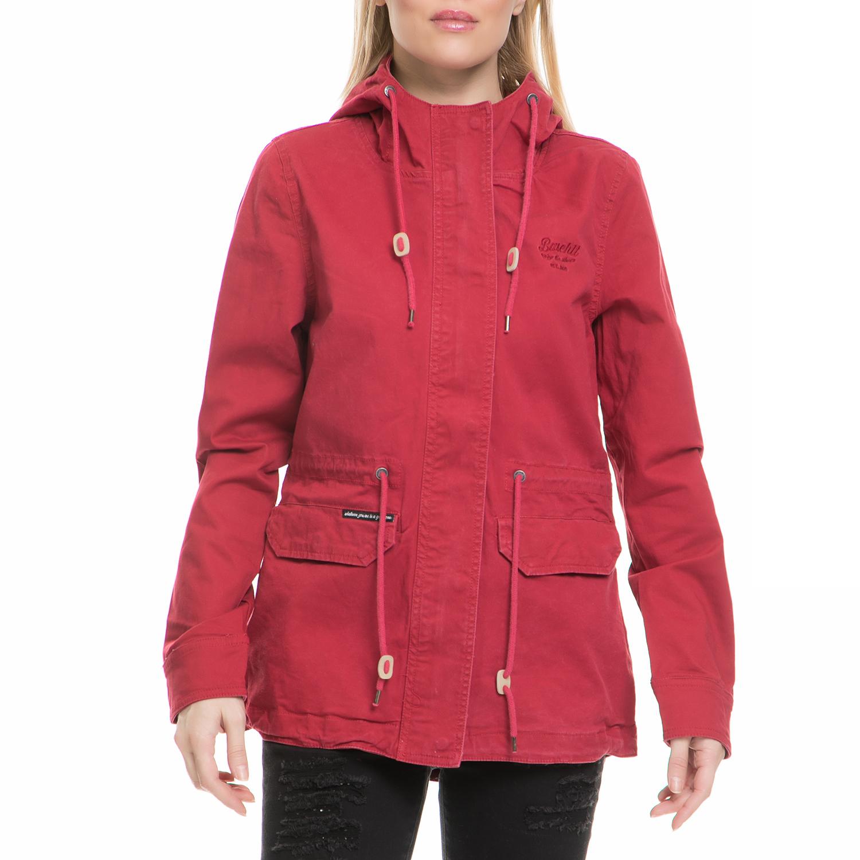 BASEHIT - Γυναικείο μπουφάν Basehit κόκκινο γυναικεία ρούχα πανωφόρια μπουφάν