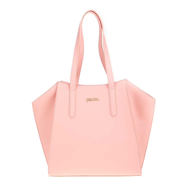 580bcfc185 FOLLI FOLLIE - Γυναικεία μεγάλη τσάντα ώμου Folli Follie ροζ
