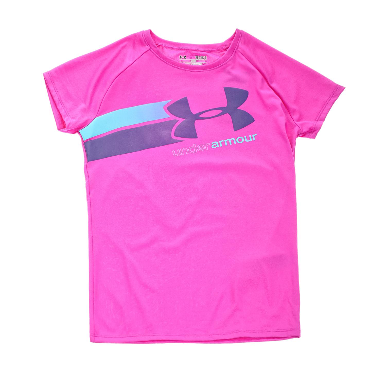 UNDER ARMOUR - Κοριτσίστικη κοντομάνικη μπλούζα UNDER ARMOUR FAST LANE SS μοβ παιδικά girls ρούχα αθλητικά