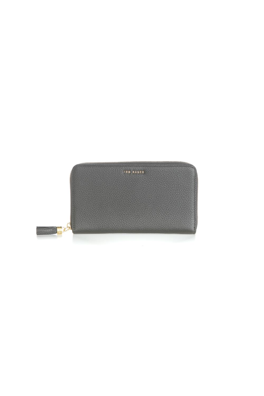 4d2bb8bc43 TED BAKER – Γυναικείο πορτοφόλι SHEEA TASSEL ZIP AROUND MATINEE σκούρο γκρι