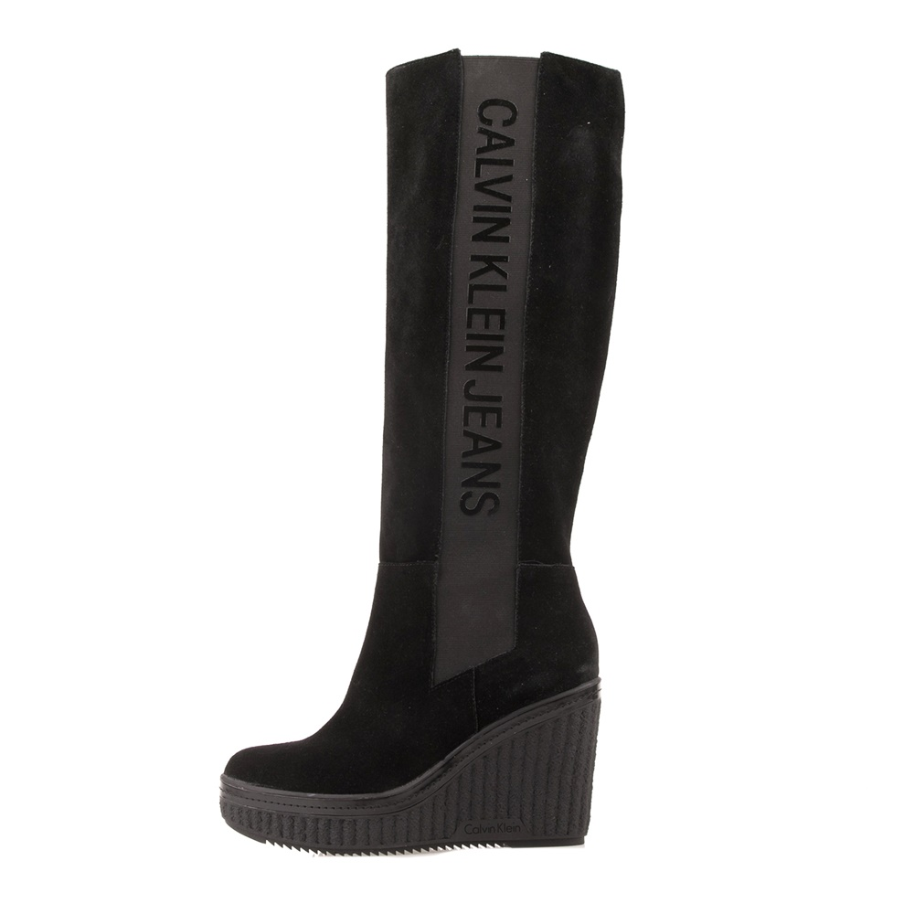 CALVIN KLEIN JEANS – Γυναικείες μπότες CALVIN KLEIN JEANS SELENE μαύρες