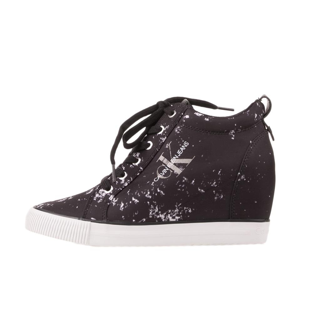 CALVIN KLEIN JEANS – Γυναικεία sneakers CALVIN KLEIN JEANS RITZY ασπρόμαυρα
