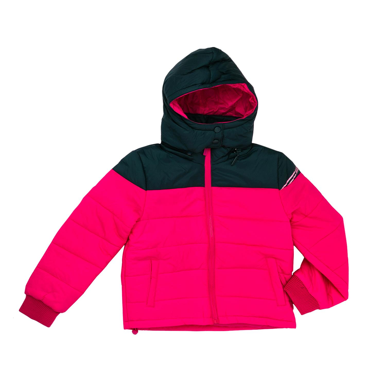 BODYTALK - Παιδικό μπουφάν Bodytalk ροζ - μαύρο παιδικά girls ρούχα πανωφόρια