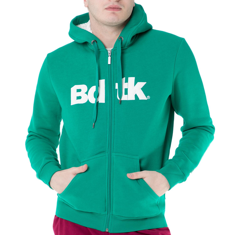 BODYTALK - Ανδρική φούτερ ζακέτα Bodytalk πράσινη ανδρικά ρούχα φούτερ ζακέτες
