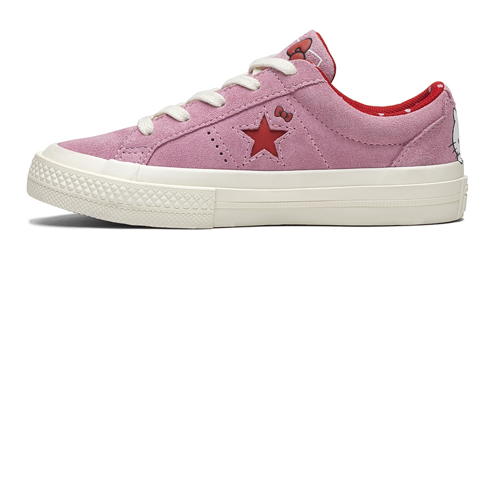 CONVERSE – Κοριτσίστικα σουέντ sneakers Converse x Hello Kitty One Star ροζ