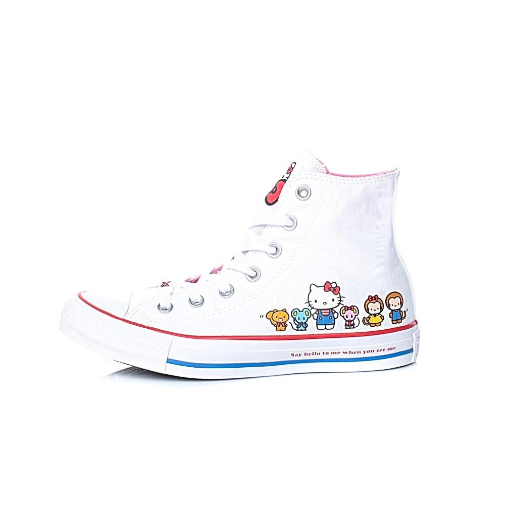 CONVERSE – Unisex μποτάκια Converse x Hello Kitty HELLO KITTY CLASSIC HI λευκά