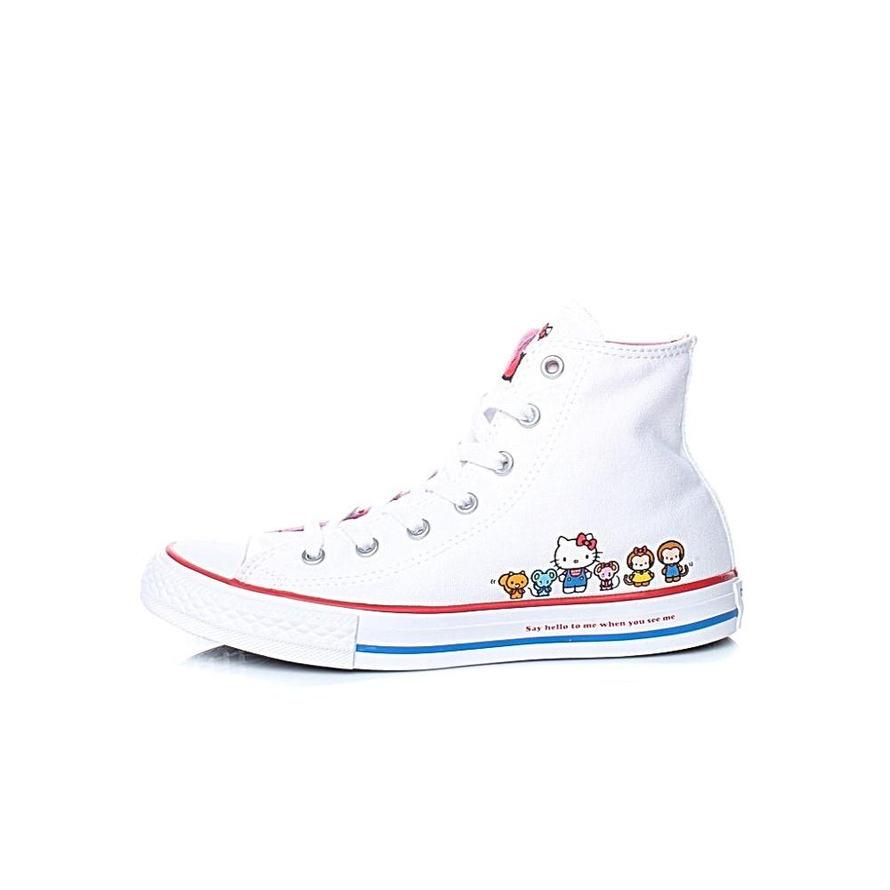 CONVERSE – Παιδικά μποτάκια Converse x Hello Kitty CTAS CLASSIC HI λευκά