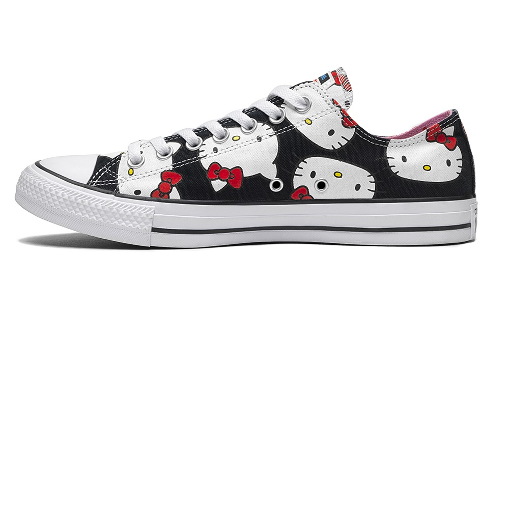 CONVERSE – Βρεφικά sneakers Converse x Hello Kitty Chuck Taylor All Star μαύρα