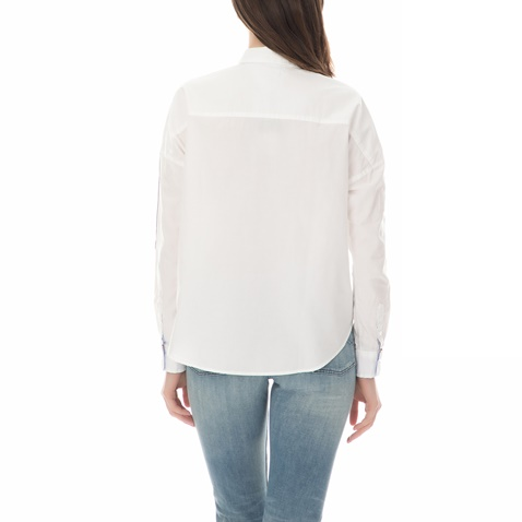 f8d375fe52b6 TOMMY HILFIGER-Γυναικείο μακρυμάνικο πουκάμισο OVERSIZED TOMMY HILFIGER  λευκό