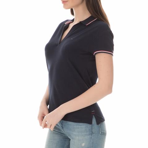 970137424d Γυναικεία κοντομάνικη πόλο μπλούζα TOMMY HILFIGER μπλε (1660732.0 ...
