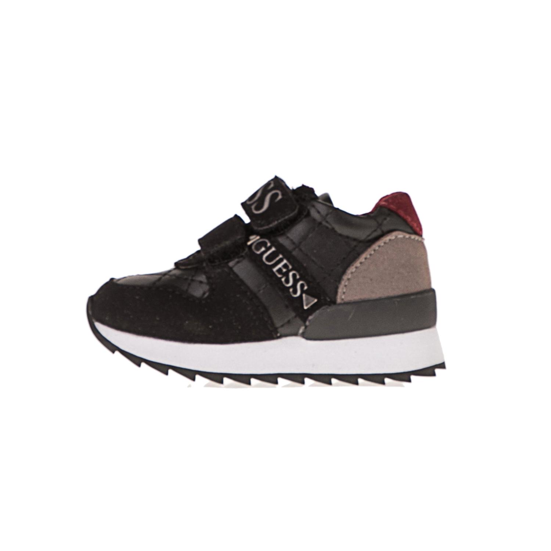 GUESS KIDS – Παιδικά sneakers GUESS KIDS FTRUD4 ESU12 μαύρο-γκρι