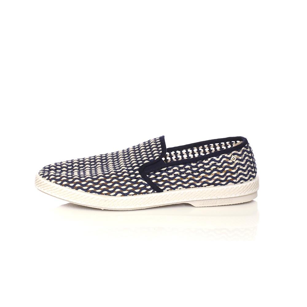 RIVIERAS - Ανδρικά slip on παπούτσια NAPOLES μπλε-λευκά
