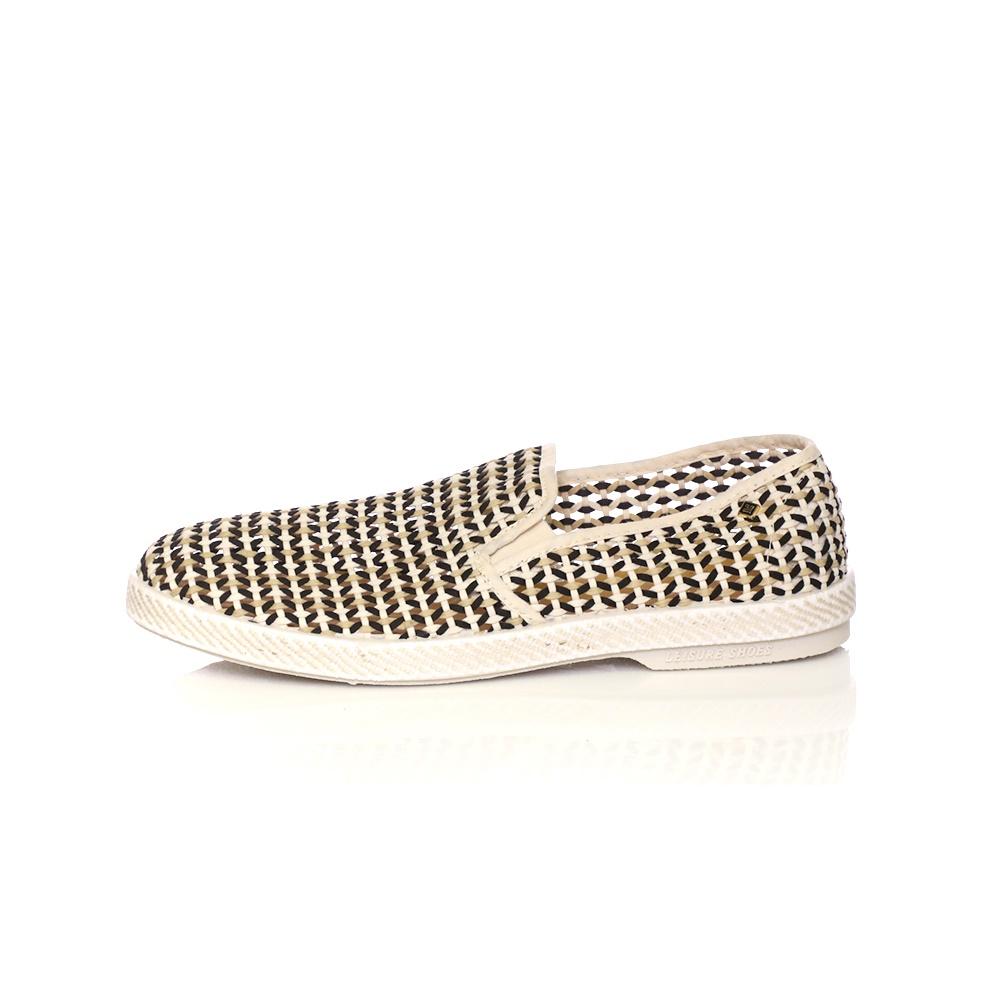 RIVIERAS - Ανδρικά slip on παπούτσια NAPOLES μαύρα-μπεζ
