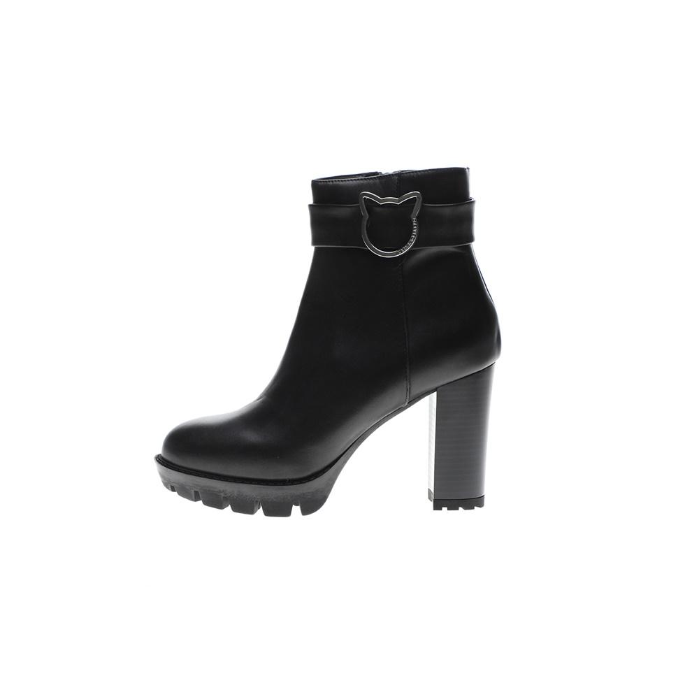 KARL LAGERFELD – Γυναικεία μποτάκια KARL LAGERFELD VOYAGE Ankle Cat Brooch μαύρα