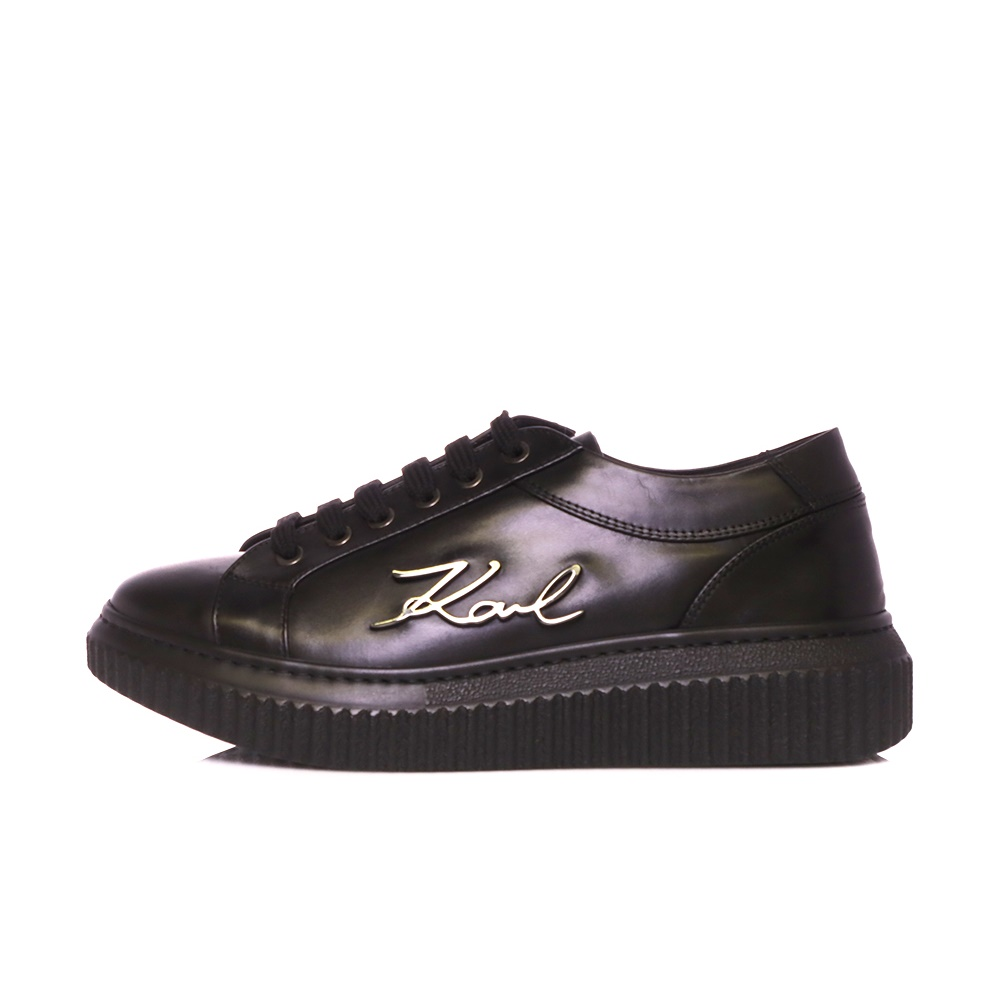 KARL LAGERFELD – Γυναικεία sneakers KARL LAGERFELD KREEPER LO Signia μαύρα