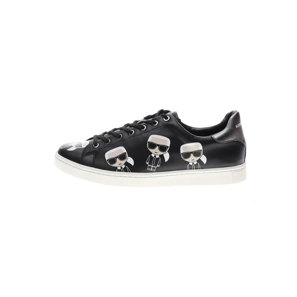 KARL LAGERFELD – Ανδρικά sneakers KARL LAGERFELD KOURT Multikonic Karl Lace μαύρα